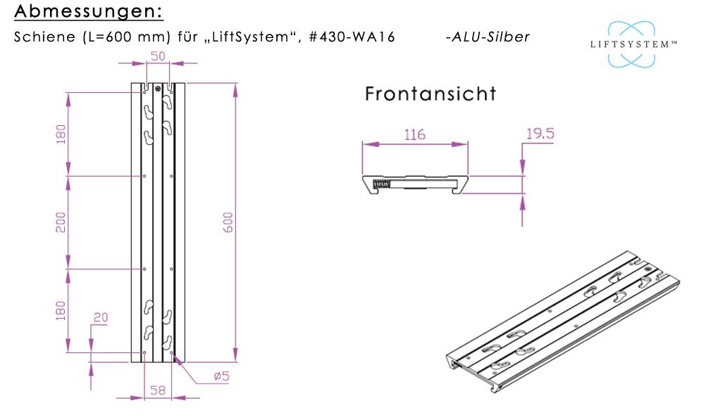 Schiene für LiftSystem