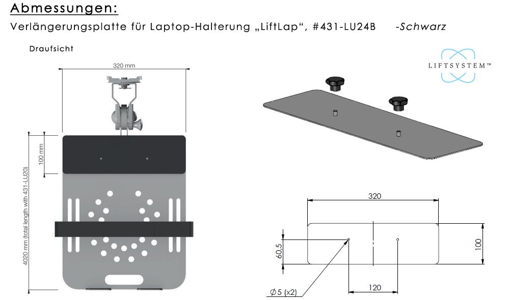 Verlängerungsplatte für LiftLap