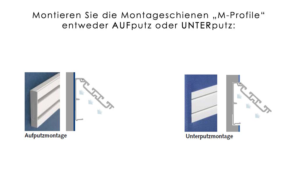 Endstücke Montageschiene / Objektschiene