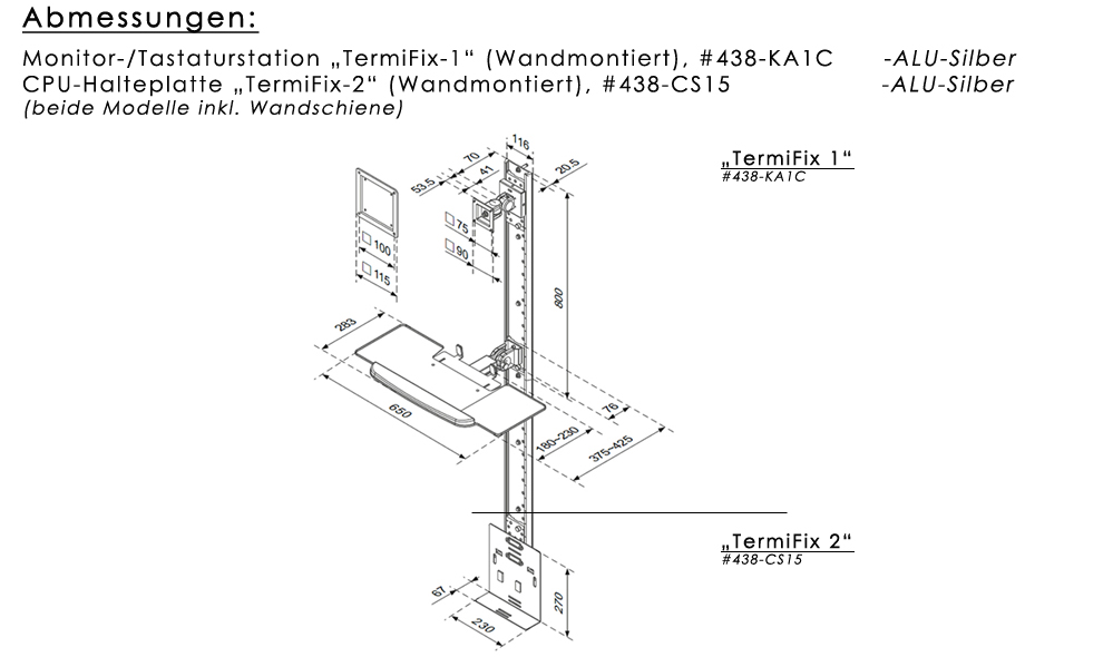 Monitor-/Tastaturhalter