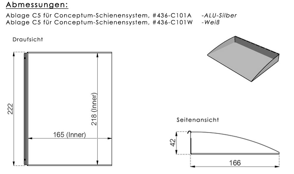 Ablage C5 für Conceptum