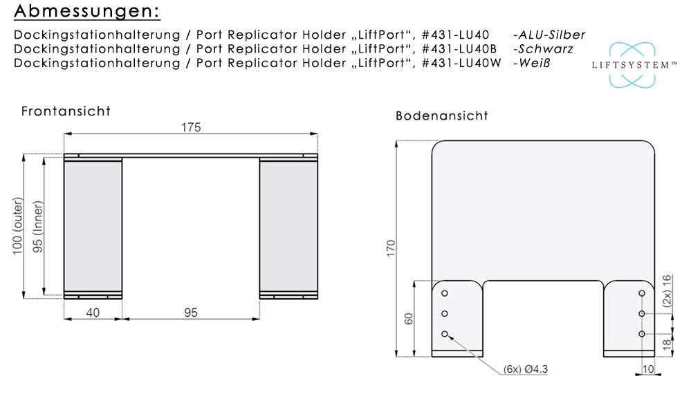 Dockingstationablage / Port Replicator Holder