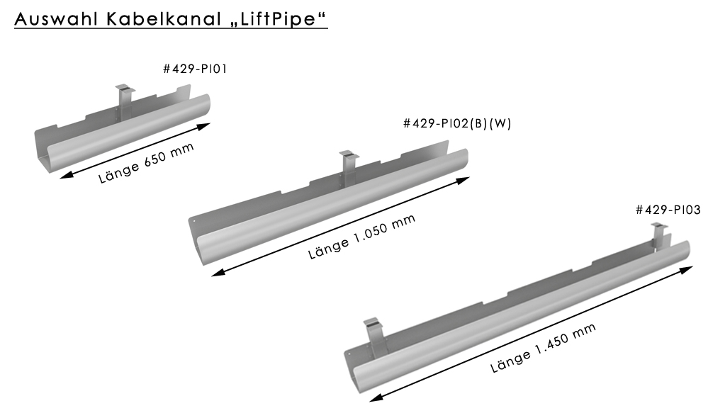"""Kabelkanal / Kabelwanne """"LiftPipe"""""""