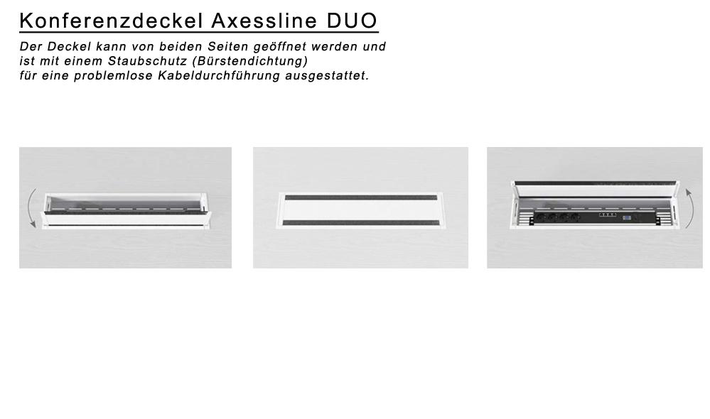 Konferenzdeckel / Kabeldurchlass / Kabeldurchführung / Kabelauslass
